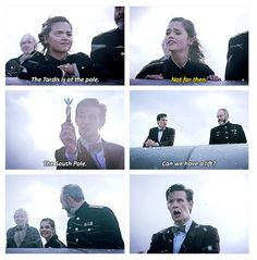 """""""Can we have a lift?"""" Seriously, Matt's face was the best part of the entire episode. We must have rewound and watched it again a dozen times! Doctor Who Quotes, Clara Oswald, Don't Blink, Eleventh Doctor, Jenna Coleman, Torchwood, Geronimo, Dr Who, Look At You"""