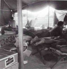 4th Marines enjoy some time in their quarters in the rear.