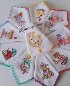 Hand Embroidery Embroidery Patterns Cross Stitch Embroidery Alpha Patterns Bargello Baby Shower Favors Crochet Bebe Hobbies And Crafts Baby Room Embroidery Neck Designs, Baby Embroidery, Cross Stitch Embroidery, Embroidery Patterns, Cross Stitch Patterns, Machine Embroidery, Baby Knitting Patterns, Stitch Cartoon, Bib Pattern