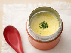 【つぶしかぼちゃのチーズポタージュ】 ショウガを使った、冷え性の方にもおすすめスープ♪ 体がポカポカ暖まります。