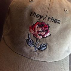 I don't go by these pronouns but I absolutely love the fact that this hat exists