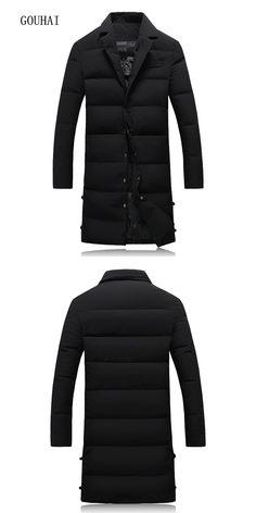 eb2cf79fa9fa Long Winter Jacket Mens White Duck Down Jacket Men Plus Size 5XL 2017 Solid  Black Light Down Men Feather Jacket Male Parka Homme