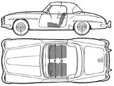 Кола Mercedes Benz 190SL 1962