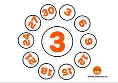 3-as szorzótábla körök – Matek 2. osztály LETÖLTETŐ - Kalauzoló - Online tanulás Calendar, Holiday Decor, Cards, Life Planner, Maps, Playing Cards