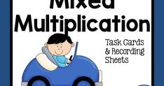 Mixed Multiplication Task Cards and Recording Sheets Freebie from Fern Smith's Classroom Ideas at ClassroomFreebies.