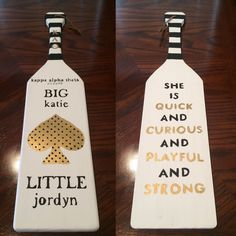 liamsqueen:kate spade inspired paddle for my big! ♠️