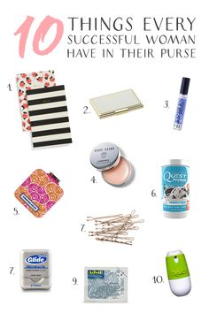 Things for every successful creative, blogger, or entrepreneur to have in their purse to tackle their day!