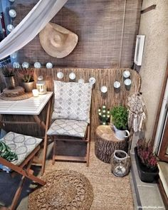 Ideas for the Terrace 🌴 Summer is approaching and it's time to redecorate the balcony! Here's a list of things you should not miss: Table . - Westwing Home & Living Italia - Kleiner Balkon - Balcony Furniture Design