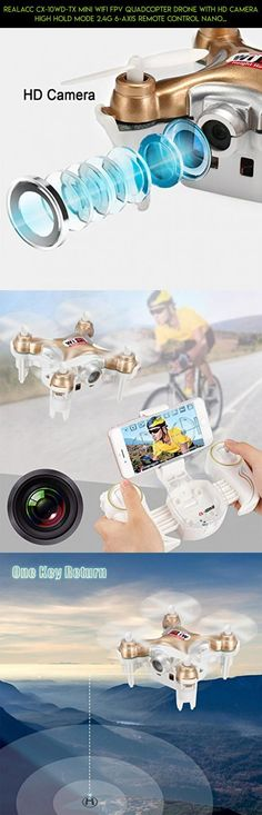 REALACC CX-10WD-TX Mini Wifi FPV Quadcopter Drone With HD Camera High Hold Mode 2.4G 6-axis Remote Control Nano Quadcopter RTF Mode Switch (Golden) #with #drone #gadgets #parts #camera #racing #shopping #drone #products #fpv #plans #cheerson #technology #camera #kit #tech