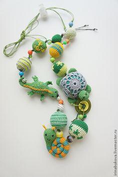 """Детские аксессуары ручной работы. Ярмарка Мастеров - ручная работа Слингобусы """"Green"""". Handmade."""
