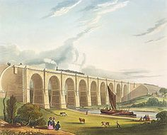 Train Drawings - Viaduct Across The Sankey Valley, Plate by Thomas Talbot Bury