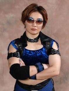 Japanese female wrestler Yoshiko Tamura http://joshipuroresu.blogspot.com/2007/03/yoshiko-tamura.html