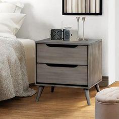 Furniture of America Corrine Mid-Century Modern 2-drawer Nightstand