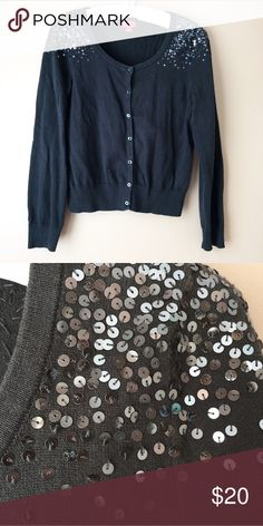 Elle Sequin Shoulder Sweater Really nice, runs a little small. Worn a handful of times, but in great condition. Elle Sweaters Cardigans