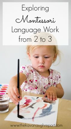 According to Maria Montessori children are in the sensitive period for language from birth until age 6.  Here is some toddler work to take advantage of that time, and hint it doesn't include the alphabet!