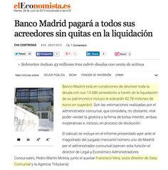 New mention to Data Concursal and Francisco  Vera in 'El Economista'. #BancoMadrid