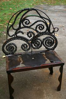 Mixed Metals and Bike chain bench