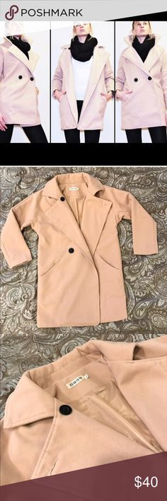 "🖤💙 B O Y F R I E N D F I T Camel Beige Warm Coat Boyfriend Fit • Camel / Beige Coat • size S • worn only a couple of times- in excellent condition, only selling it because I have another very similar beige coat • double breasted buttons • can be worn opened or closed • comfortable and very trendy • Unbranded- bought online • measurements: total length approx. 31"" Chest across 19"" Sleeves 16"" • material: wool & polyester • 💙✨ M A K E  A N  O F F E R ✨💙 Unbranded Jackets & Coats"
