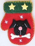 """4"""" Mitten with dog"""