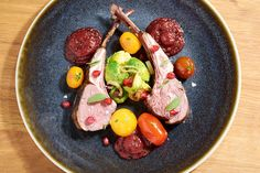 Sous Vide Rack of Lamb with Pomegranate Sauce - Amazing Food Made Easy Sous Vide Lamb, Sous Vide Cooking, My Favorite Food, Favorite Recipes, Lamb Loin Chops, Pomegranate Sauce, Lamb Ribs, Rack Of Lamb, Food Concept