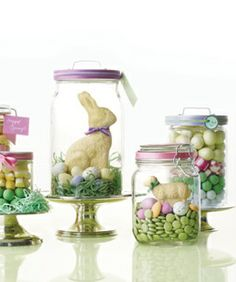 Jars with easter treats