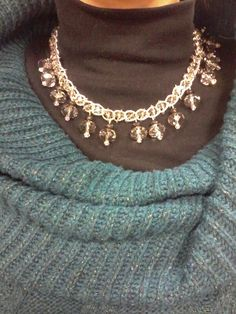 Chain necklace with crystals on Etsy shop by name ExsoticsJewelry