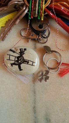 Chimney Sweep Fridge Magnet, Luck Keychain, River Pebble Magnet, Original Stone, Rock Magnet, Unique Surprise, Handmade with Love Charm Gift