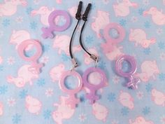Girl Power Venus Symbol Dust Plug  Pick One by rarasjewels on Etsy, $6.00
