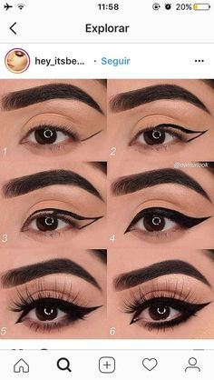 7 einfache Make-up-Tipps, um Ihre Augen zum Platzen zu bringen O Check - Samantha Fashion Life 7 simple makeup tips to make your eyes pop O check 7 simple makeup tips to make your eyes pop-style O Activate - Eyebrow Makeup Tips, Makeup Eye Looks, Eye Makeup Steps, Makeup 101, Contour Makeup, Skin Makeup, Makeup Ideas, Lip Contouring, Makeup Brush