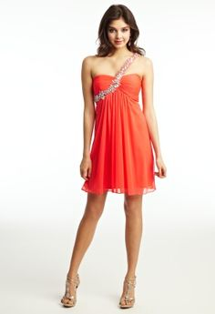 Prom Dresses 2013 - Beaded One Shoulder Short Dress from Camille La Vie and Group USA