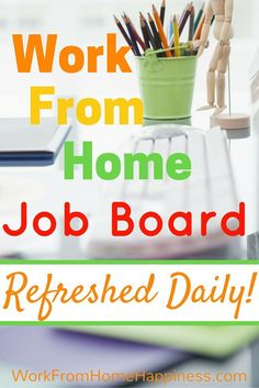 Looking for a work from home, remote or virtual job? Check out the Work From Home Happiness Job Board for the latest at-home jobs. You can even create a custom job alert so you never miss the perfect work from home opportunity again!