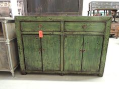 Antique Chinese Storage Cabinet or Console in by ModernRedLA