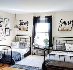 This photo is genuinely a noteworthy style theme. Big Boy Bedrooms, Boys Bedroom Decor, Home Bedroom, Teen Boys Room Decor, Teen Boy Rooms, Kids Rooms, Shared Boys Rooms, Shared Bedrooms, My New Room