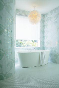 Mosaic-Tiled Bathroom