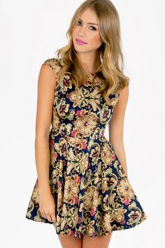 Barococo Skater Dress $48 at www.tobi.com Don't know why, but I absolutely love the pattern on this dress!