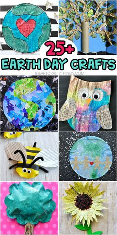 Earth Day Crafts for Kids -Easy craft ideas for kids of all ages using recycled materials like newspaper, cardboard and magazines for Earth Day. day dinner outfits Easy Earth Day Crafts for Kids using Recycled Materials Earth Craft, Earth Day Crafts, Nature Crafts, Recycled Crafts Kids, Recycled Art Projects, Recycled Materials, Diy Crafts, Crafts For Kids To Make, Projects For Kids