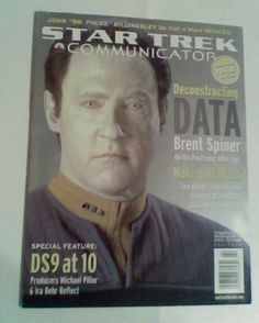 STAR TREK COMMUNICATER MAGAZINE # 142 BRENT SPINER COVER