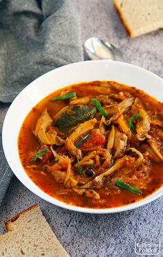 Healthy Soup, Healthy Eating, Kitchen Recipes, Cooking Recipes, Polish Recipes, Polish Food, Thai Red Curry, Brunch, Food And Drink