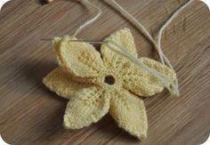 Tuto fleur en tricot