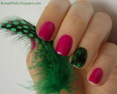 Konad Addict: Feather Nail Art