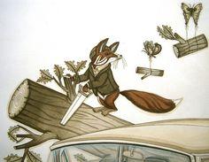 By Evan B. Harris. #fox #illustration