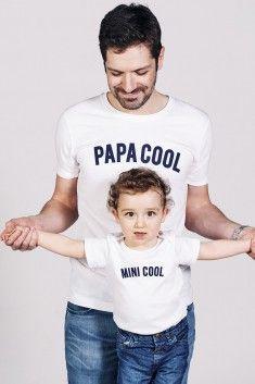 T-shirt Papa Cool Blanc - Edition limitée