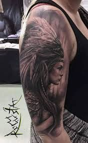 What does indian tattoo mean? We have indian tattoo ideas, designs, symbolism and we explain the meaning behind the tattoo. Indian Women Tattoo, Native Indian Tattoos, Indian Girl Tattoos, Native American Tattoos, Indian Tattoo Design, Tattoos Arm Mann, Girl Arm Tattoos, Sleeve Tattoos For Women, Arm Tattoos For Guys