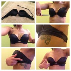 Neat trick to keep a strapless from slipping!