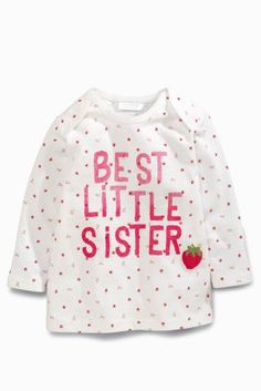 Buy Ecru/Pink Strawberry Sister T-Shirt (0mths-2yrs) online today at Next: United States of America