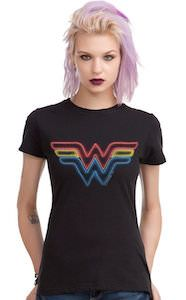Wonder Woman Neon Logo T-Shirt - http://www.thlog.com/wonder-woman-neon-logo-t-shirt/