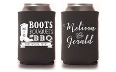 Custom Wedding Koozie  Boot Bouquets & BBQ by PaperLeigh on Etsy, $135.00 for 100