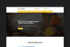 Alcazar - Construction, Renovation & Building HTML Website Template Html Website Templates, Template Site, Site Website, Website Themes, Business Brochure, Business Card Logo, Wordpress Template, Wordpress Theme, Web Ui Design