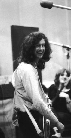 "Jimmy Page. 1969* ""Recording of 'Ramble On' at Groove Sound, New York""  (one of my favorite favorite songs.)"