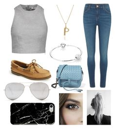 """Paige's average outfit"" by paigey16 on Polyvore featuring T By Alexander Wang, River Island, Rachel Jackson, Pandora, Sperry, Bottega Veneta, Sunny Rebel and Recover"